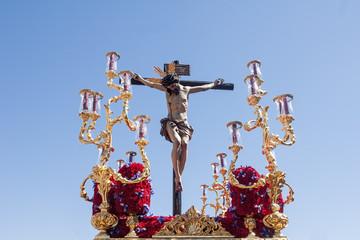 paso de misterio de la hermandad de san Bernardo en la semana santa de Sevilla