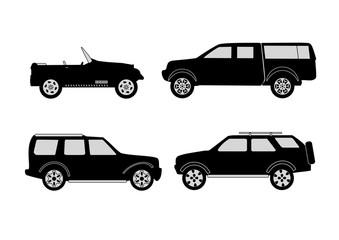 Wall Mural - off-road 4x4 vehicle illustration set