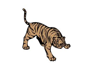 Tiger mascot Crashing