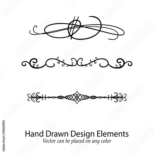 Elements By Design : Quot abstract vector design elements set of beautiful fancy