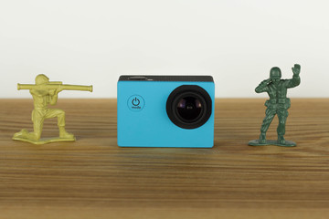 Action Cam blue