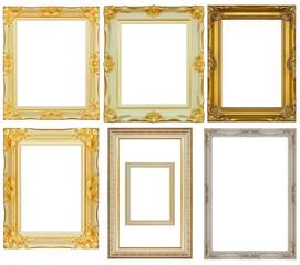 Set of vintage frame isolated on white background