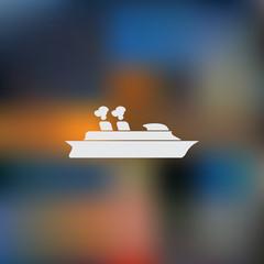Cruise sea ship - Vector icon