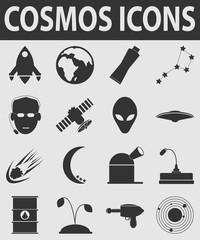 vector cosmos icons set