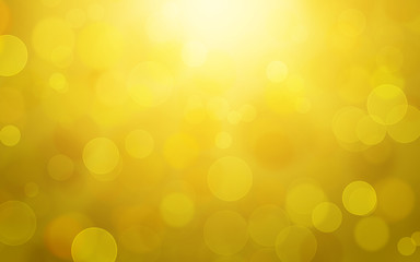 abstract orange yellow bokeh background