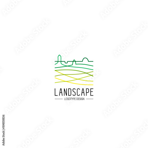 Creative Landscape Logo Design Vector Template Logotype For Your Business
