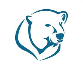 polar bear head abstract