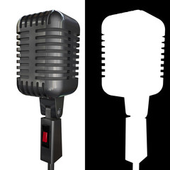 chrome microphone isolated