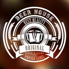 Этикетка Пива. Логотип для пивбара и ресторана.