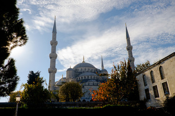 Sultan Ahmed or Blue Mosque in Istanbul the morning