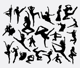 Dance male and female bundle silhouette 6. Good use for symbol, logo, web icon, mascot, sign, sticker, or any design you want. Easy to use.