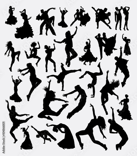 Dance Man And Women Bundle Silhouette Good Use For Symbol Logo
