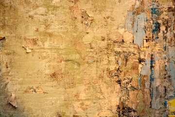 Fotobehang Oude vuile getextureerde muur Torn posters