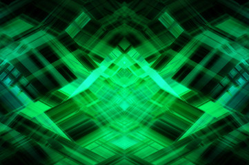 Abstract fractal green background with crossing ovals
