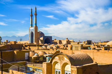 View of the historic centre of Yazd