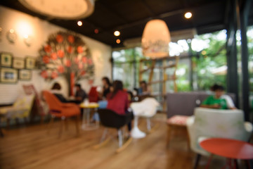 Blur or Defocus image of Coffee Shop  Background