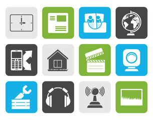 Flat Mobile phone and computer icons - vector icon set