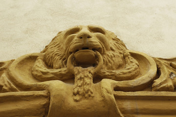 Concrete decoration lion