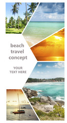 Beautiful vacation collage