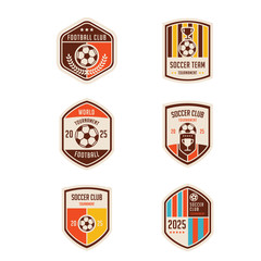 set of football crests and logo emblem