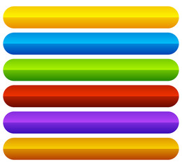 Horizontal, colorful vivid buttons with blank space for texts