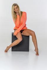 Blonde Studio Model
