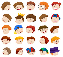 Different emotions of little boys