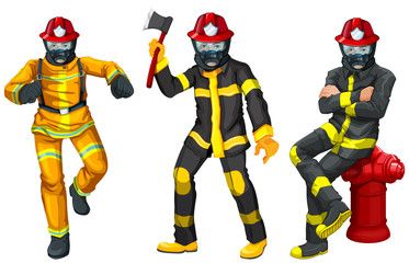 Fire fighters in uniform