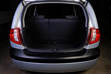 trunk of hatchback on black