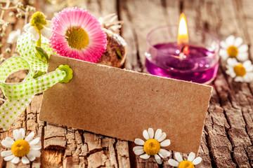Stylish spring flower card