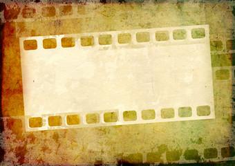 Grunge background with filmstrip