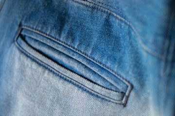 Blue Jeans Closeup Texture Background/ Blue Jeans Closeup Macro Textile Texture Background