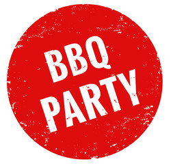 BBQ party Stempel rot grunge