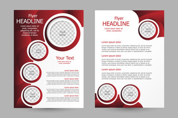 Vector flyer template design