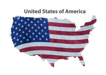 USA vector map. vector illustration