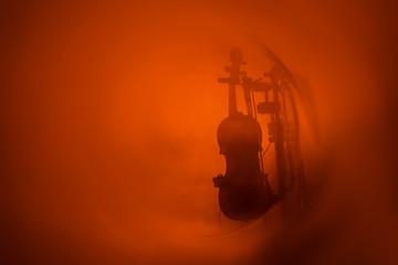 violon concert musique instrument à cordes orange scène stand