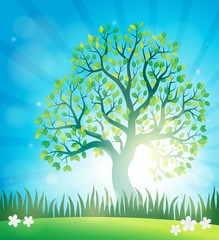 Spring topic background 4