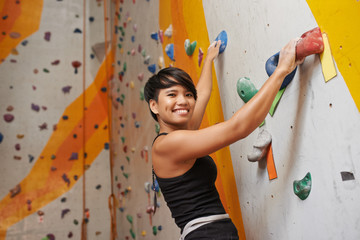 Attractive climber