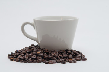 Wall Murals Cafe White coffee cup