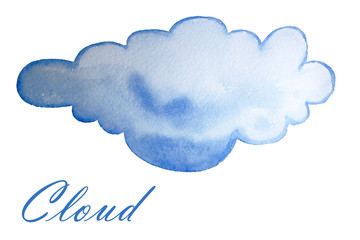 Watercolor illustration of clouds