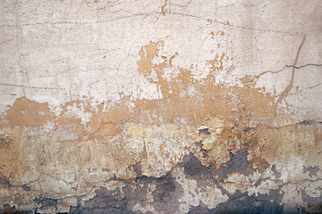old dirty textured wall background, toned image, film colorized