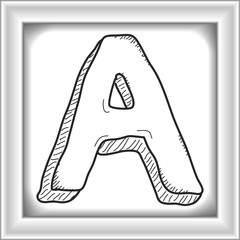 Simple doodle of the letter A