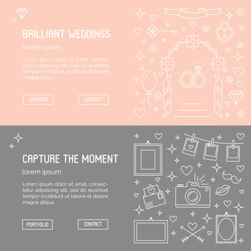 Web banner templates - wedding agency and phographer.