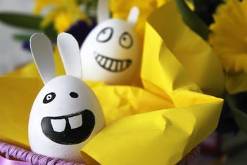 funny Easter bunnies eggs