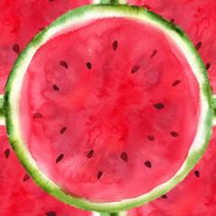 hand-drawn sliced watermelon