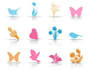 Symbole Frühling - Farbe (Schatten)