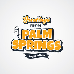 palm springs vacation greetings theme