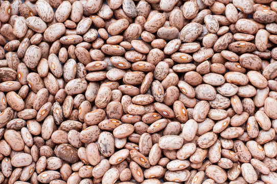 Healthy Brown Pinto Beans with High Fiber and Low Fat Contents,