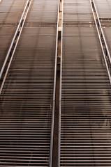 Striped metal panel