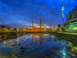 Tengku Ampuan Jemaah Shah Alam Malaysia during blue hour